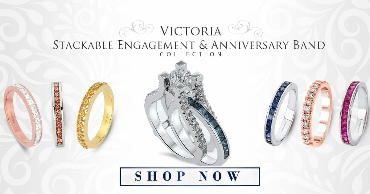 Diamond Engagement Stackable Rings